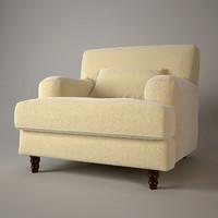 3ds biege soft armchair