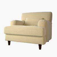 3ds biege soft armchair