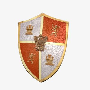 medieval shield 3d max