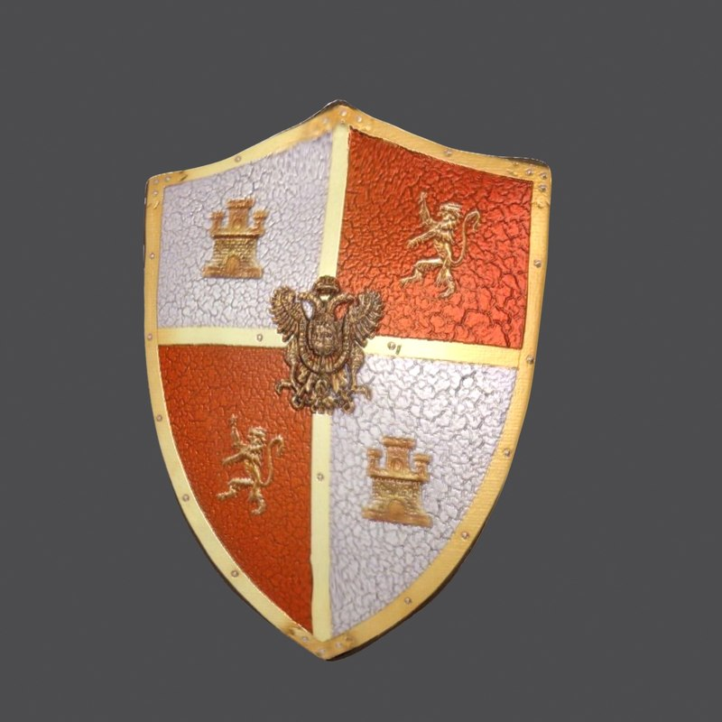 medieval shield 3d max
