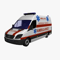 3d max ambulance van