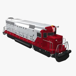 3d model passenger train engine