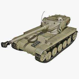 lwo french amx-13 light tank