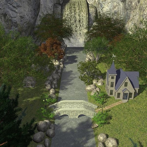 3d house falls