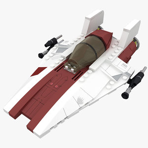 dwg lego a-wing starfighter