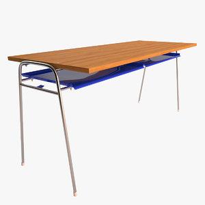 school classroom table 3d model