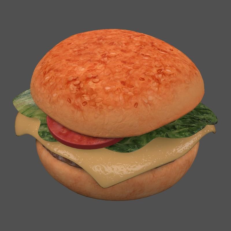 3ds hamburger burger