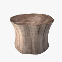 3d log coffee table model
