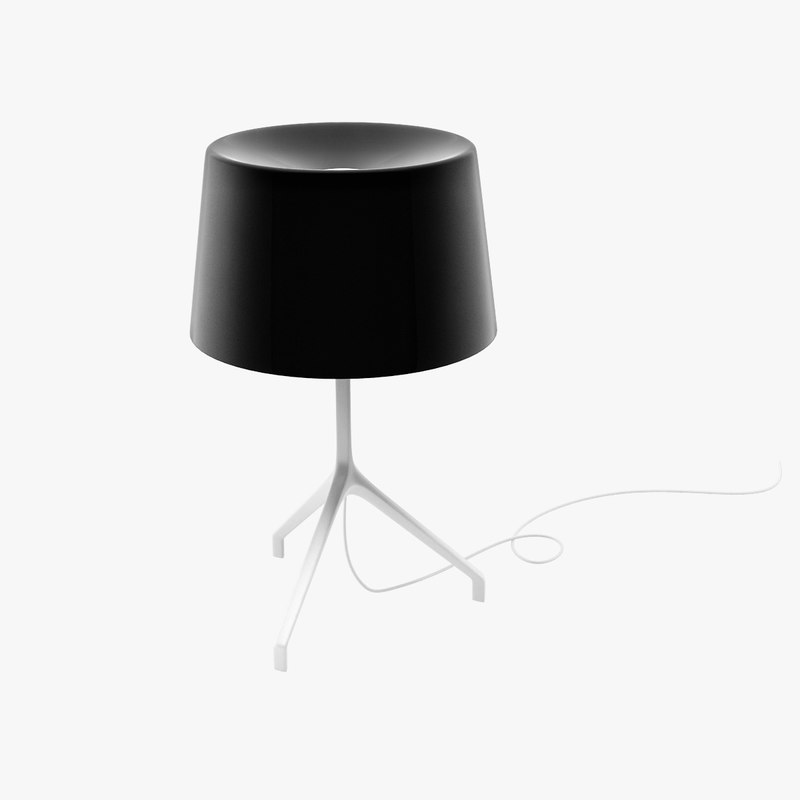 3d model table lamp lumiere