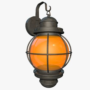 3d outdoor lantern