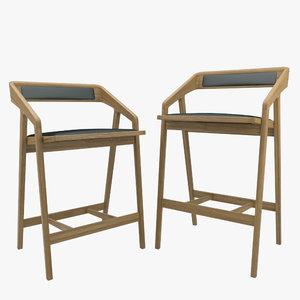 counter bar chair - obj
