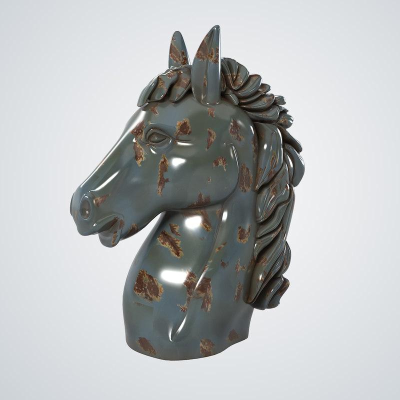 decorative horse head max