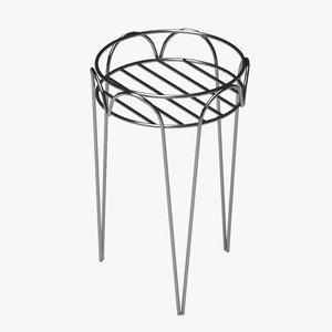 3d flower pot support