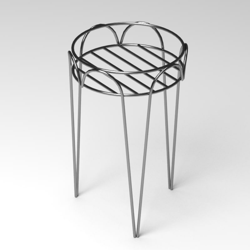 3d flower pot support