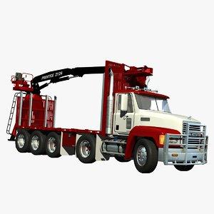 mack ch truck self 3d lwo