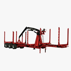 3d trailer arctic hr-51tr loader model