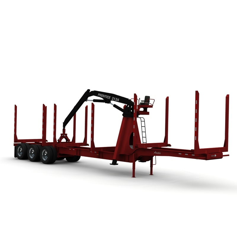 3d trailer arctic hr-51tr loader model