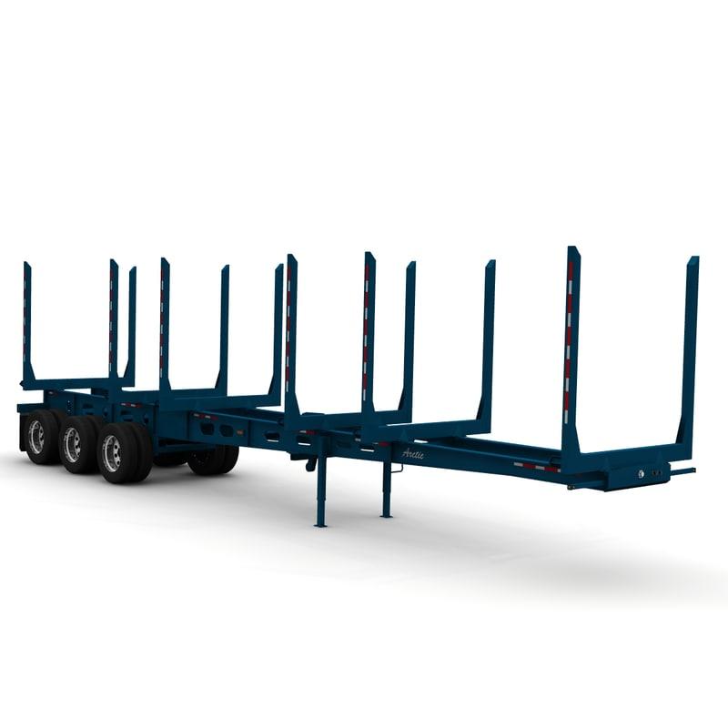 3d short logger trailer
