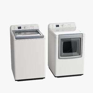 load washer dryer 3d model