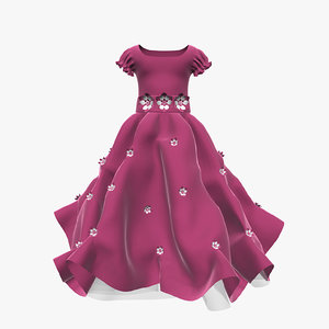 3d dress girl child