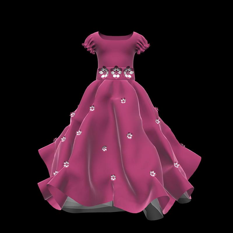3d dress girl child