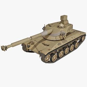 3d austrian sk-105 light tank model