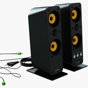 3d model of creative gigaworks t40 speakers amplifier