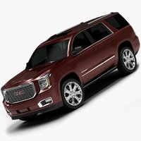 3d model 2015 gmc yukon interior