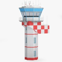 3d airport control tower