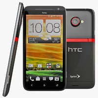 3d htc evo lte cell phone model