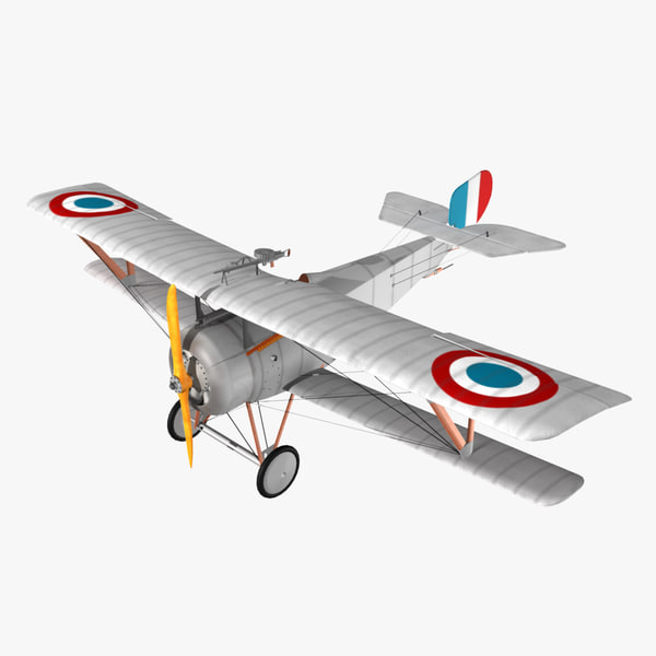 3ds max nieuport 17 fighter aircraft