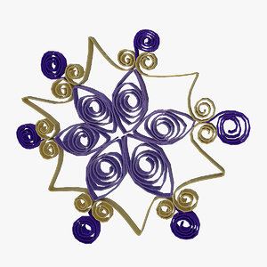 quilling snowflakes grid 03 3d max