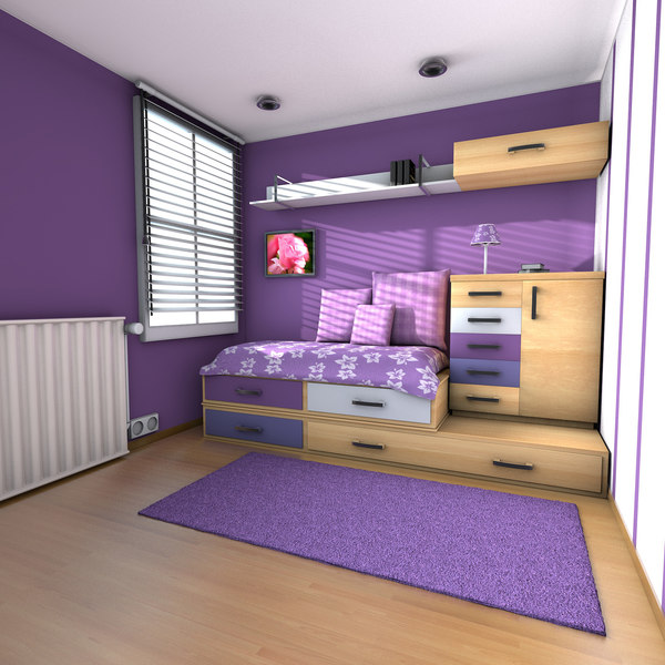 teen room teenage 3d model