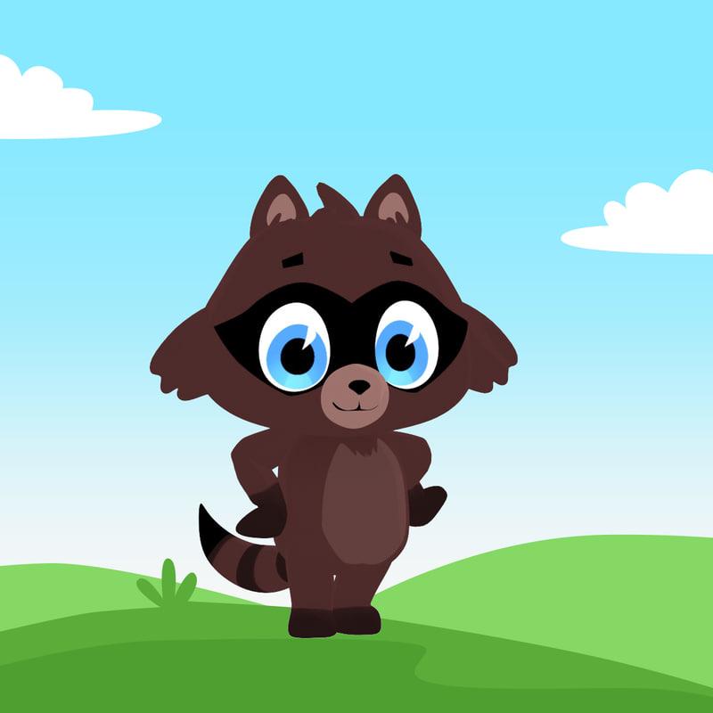 raccoon cartoon max