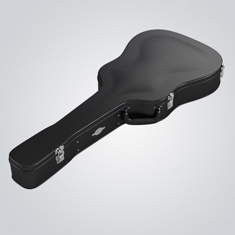 3d model hardshell electric guitar case