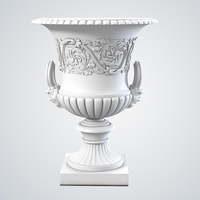 3d victorian cast iron garden model