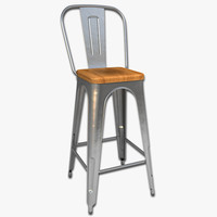 steel bar stool model