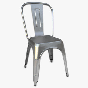 steel cafe chair 3d max