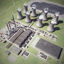Hydroelectric power station 3D models
