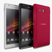 3d sony xperia sp smartphone model