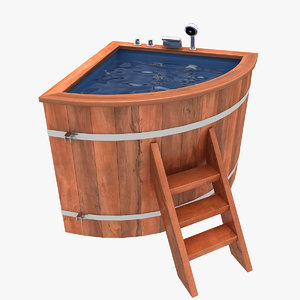 baptistery wood 3d 3ds