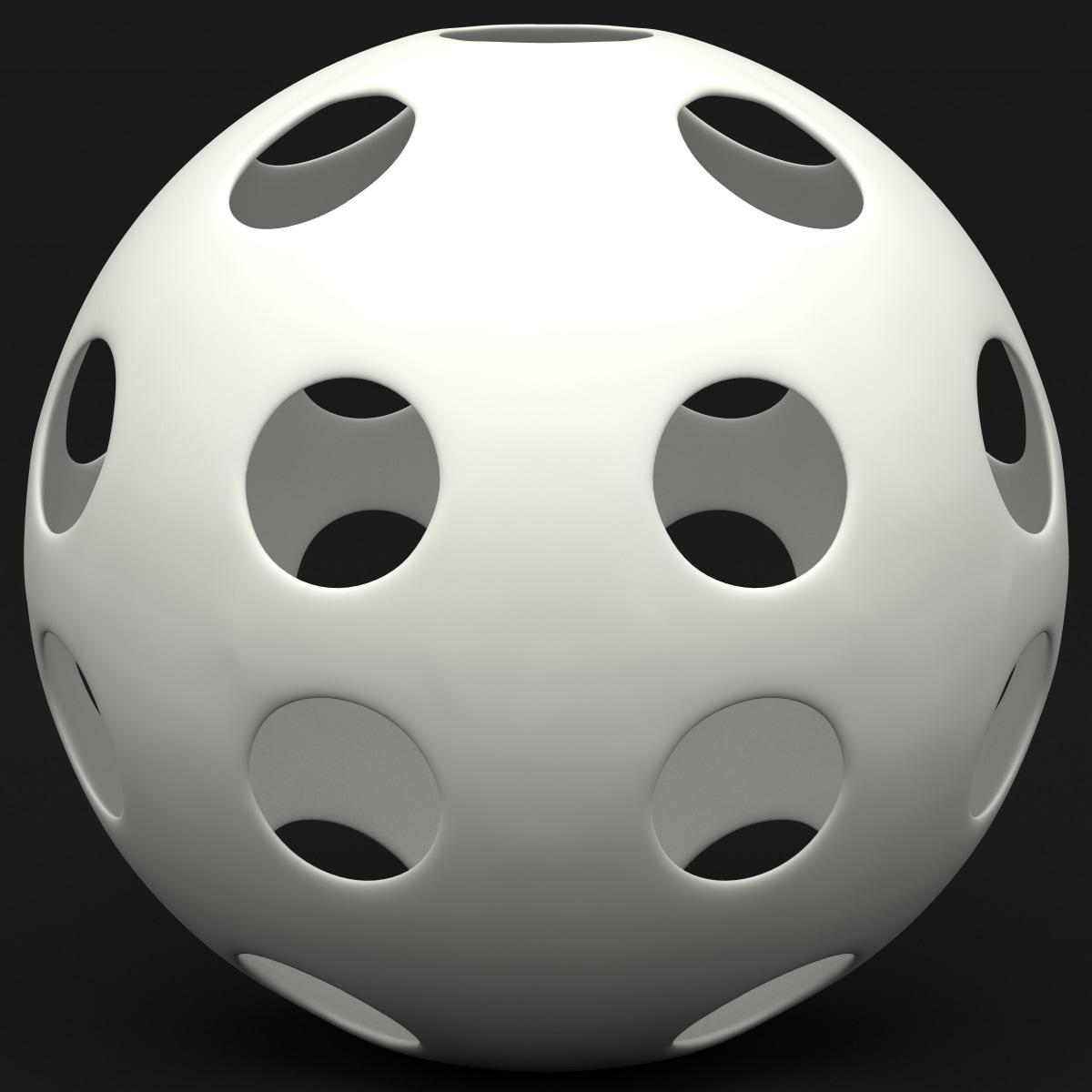 3d model wiffle ball