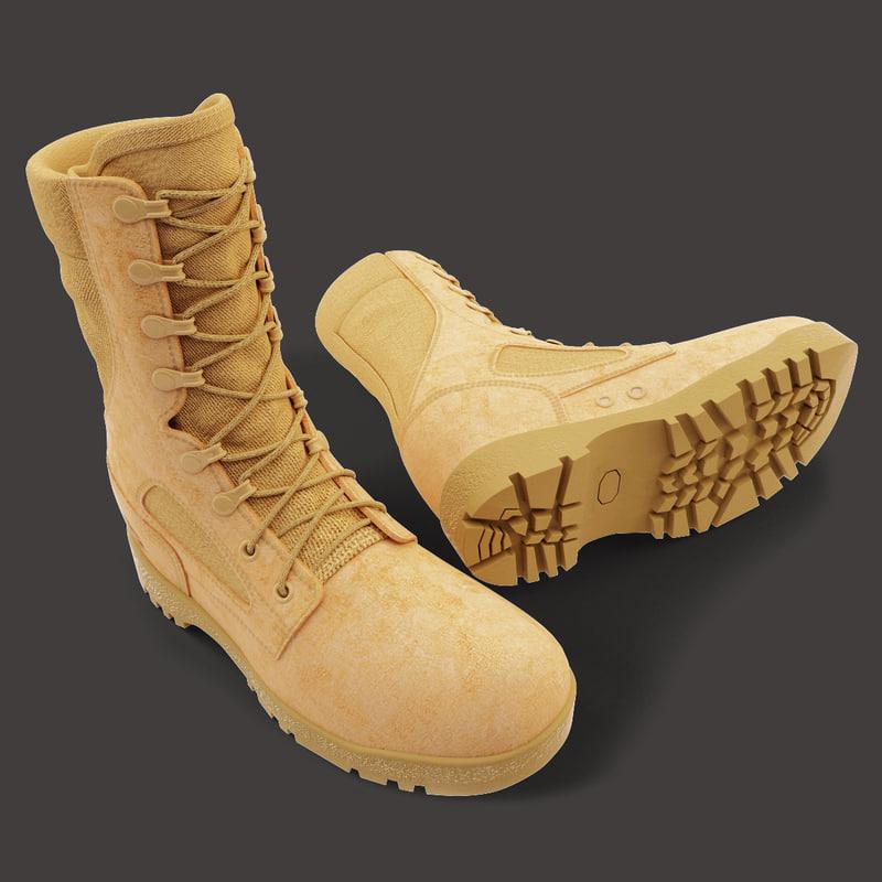usmc shoes boots 3d model