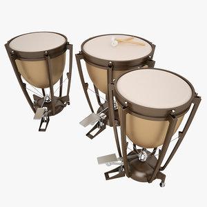 3d model kettle drum