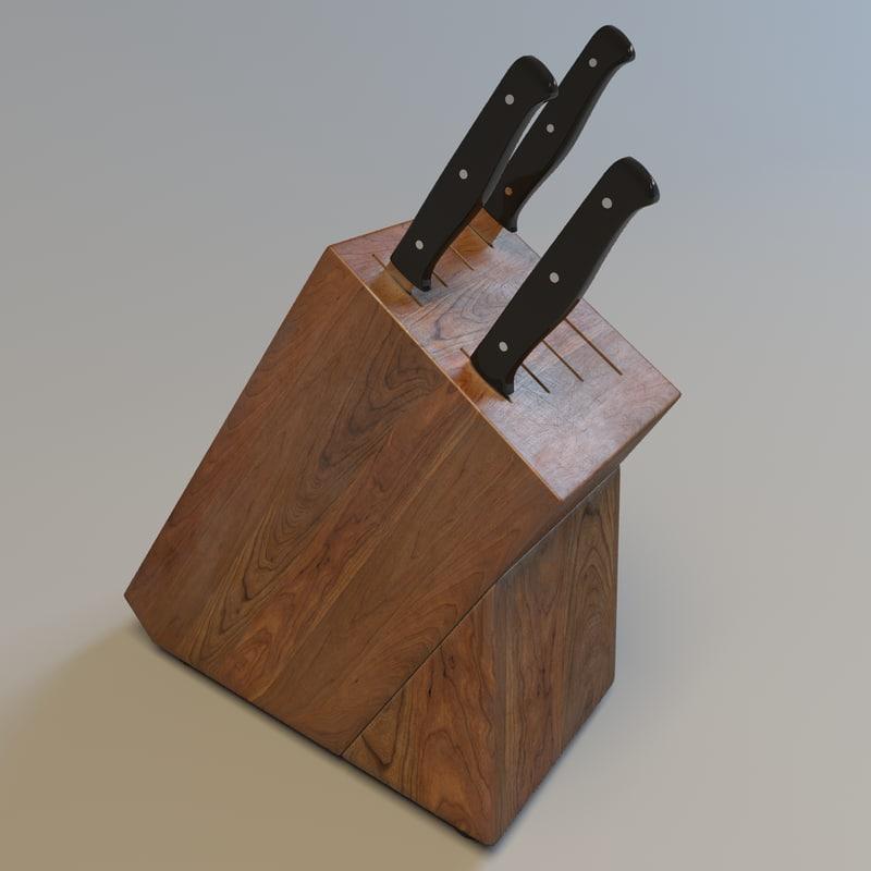 kitchen knife block max