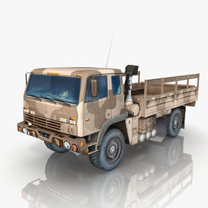 military truck m1078 cargo 3d model