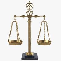 3d model vintage italian marble brass