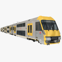 city rail set emu 3d max