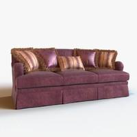 3d model of sofa modeled pillow