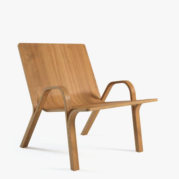 alejandro ramified armchair 3d max